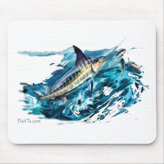 Slashing Marlin Jumping with Tuna Mouse Pad