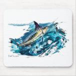 Slashing Marlin Jumping with Tuna Mousepad