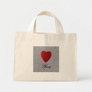 Slate background Love you Mini Tote Bag
