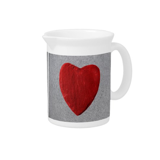 Slate background with heart pitcher