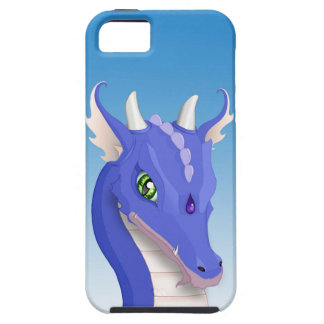 Slate Blue Dragon iPhone 5 Covers