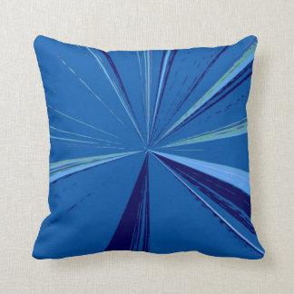 Slate Blue Vanishing Point Pillow