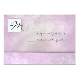 Slate Floral RSVP Card