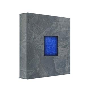 Slate Gray Dark Blue Modern Art Canvas Print