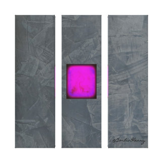 Slate Gray Lavender Fuschia Modern Art Canvas Print