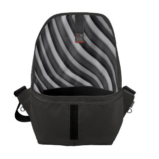 Slate Gray with Tonal Strip Men's Courier Bag