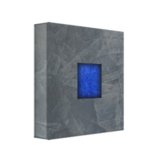 Slate Grey Dark Blue Modern Art Canvas Print