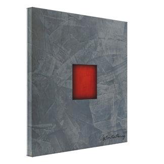 Slate Grey Dramatic Red Modern Art Canvas Print