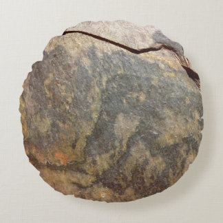Slate Rock Stone Round Cushion