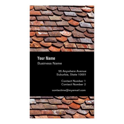 Slate roof tiler slater template business card zazzle for Tiler business card
