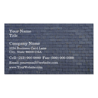 Slate Roof Tiles Close-Up Business Cards