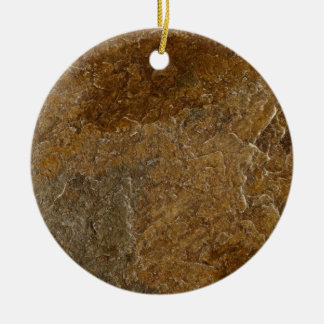 Slate Stone Background - Customized Template Blank Ceramic Ornament