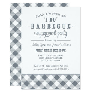 Slate Wedding Engagement Party | I Do BBQ 13 Cm X 18 Cm Invitation Card