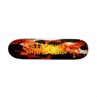 Slaughtered Remains-Skulls & Logo Mini Skateboard
