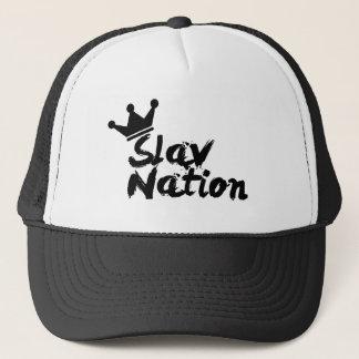 Slav_Nation Hat BlackLogo Black/White