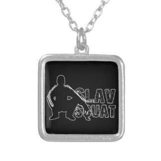 Slav Squat Silver Plated Necklace