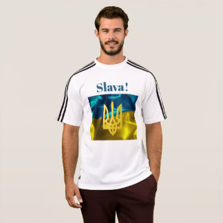 Slava! Ukraine Flag and Tryzub Adidas Shirt
