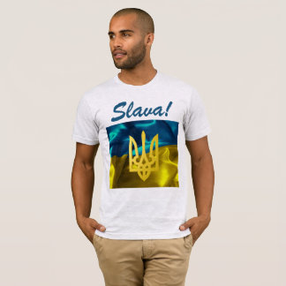 Slava! Ukraine Flag and Tryzub Men's Shirt