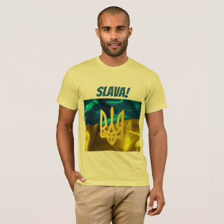 Slava! Ukraine Flag and Tryzub T Shirt