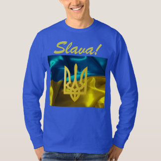 Slava! Ukraine Flag & Tryzub Long Sleeved Shirt