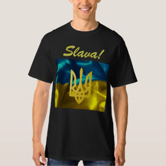 Slava! Ukraine Flag & Tryzub Men's PLUS SIZE Shirt