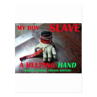 SLAVE HELPING HAND POSTCARD