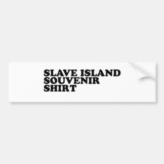 Slave Island Souvenir Shirt Bumper Stickers