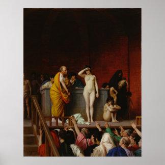 Slave Market In Rome Poster
