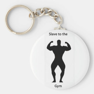 Slave to the gym keychains
