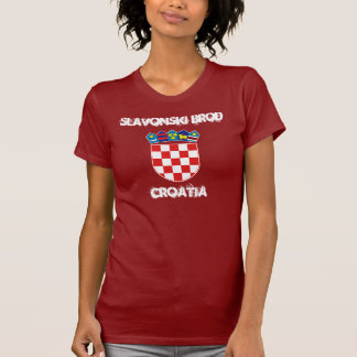 Slavonski Brod, Croatia with coat of arms T-Shirt