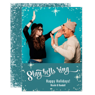 Slay Bells Ring Funny Holiday Photo Card