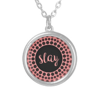 Slay Silver Plated Necklace