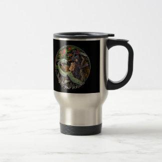 SLAY YOUR DRAGONS, Medieval art,Jordan Peterson Travel Mug