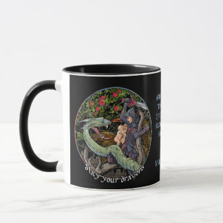 Slay Your Dragons.Personalized Gift. Medieval Art Mug