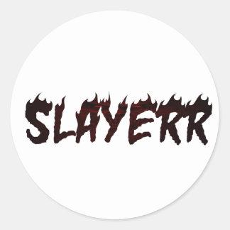 SLAYERR SATAN CLASSIC ROUND STICKER