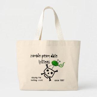 slaying the knitting world ... jumbo tote bag