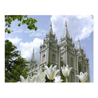 SLC LDS Temple Postcard