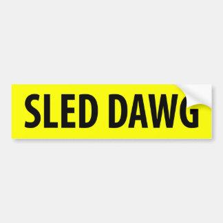 Sled Dawg Bumper Sticker