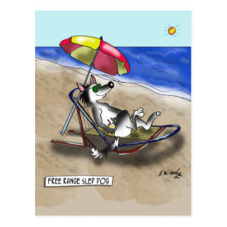 Sled Dog Cartoon 9381 Postcard