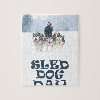 Sled Dog Day - Appreciation Day Jigsaw Puzzle