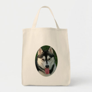 Sled Dog Environmental Tote Bag