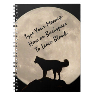 Sled Dog Notebook Personalized Husky Journal Book