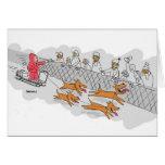 Sled Dog Race Holiday Greeting Card