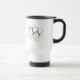 Sled Dogs in Harness Travel Mug