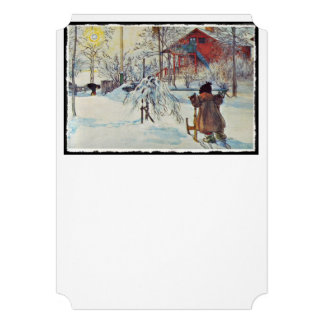 Sledding by the Wash House Cards