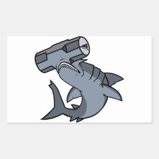 Sledgehammer Head Shark Rectangular Sticker