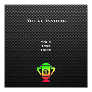 Sleek 1st Place Trophy 13 Cm X 13 Cm Square Invitation Card