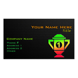 Sleek 1st Place Trophy Business Card Templates
