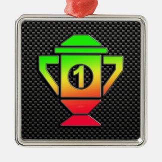 Sleek 1st Place Trophy Christmas Ornament