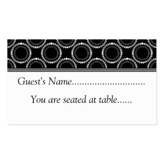 Sleek and Polished Wedding Place Cards, Black Business Card Templates